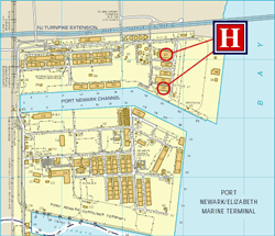 Port of Newark Map - Harbor Freight